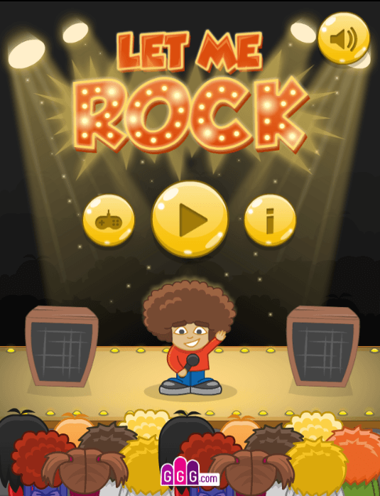 Let Me Rock - Main menu