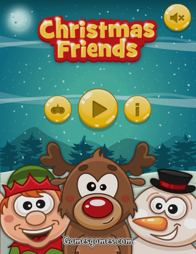 Christmas Friends - Main Menu
