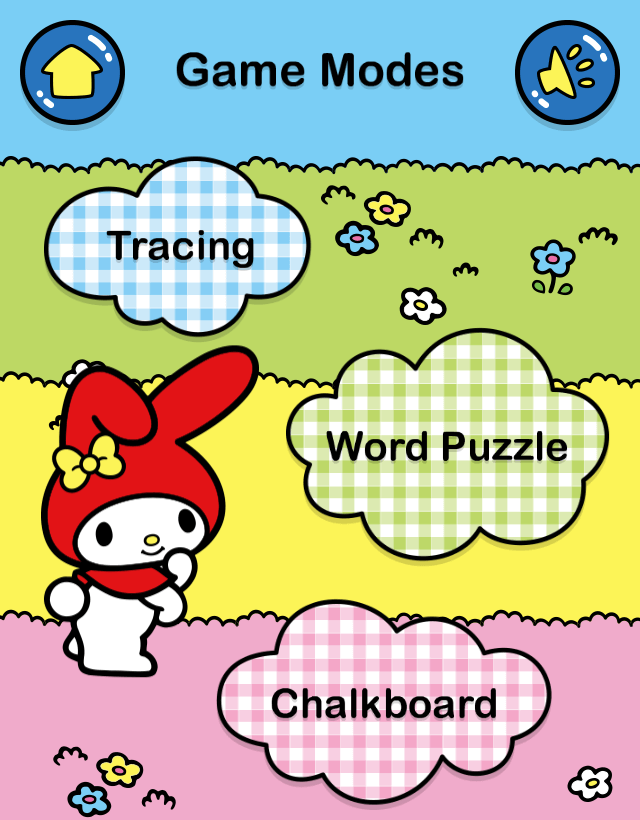 MyMelody ABC Tracing - Choose Mode Screen