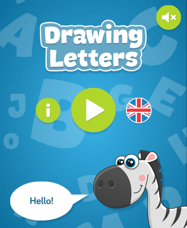 Drawing Letters - educational HTML5 game for kids