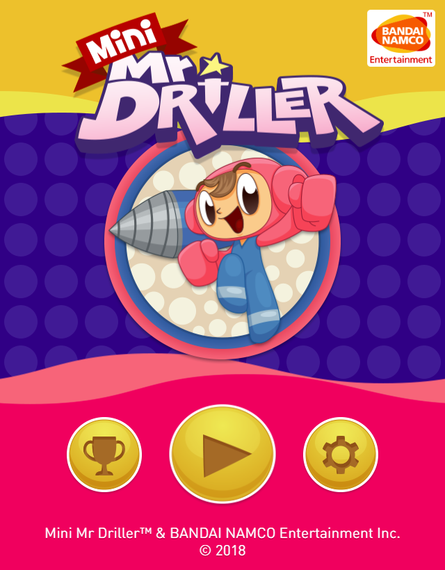 Mini MrDriller - Title Screen