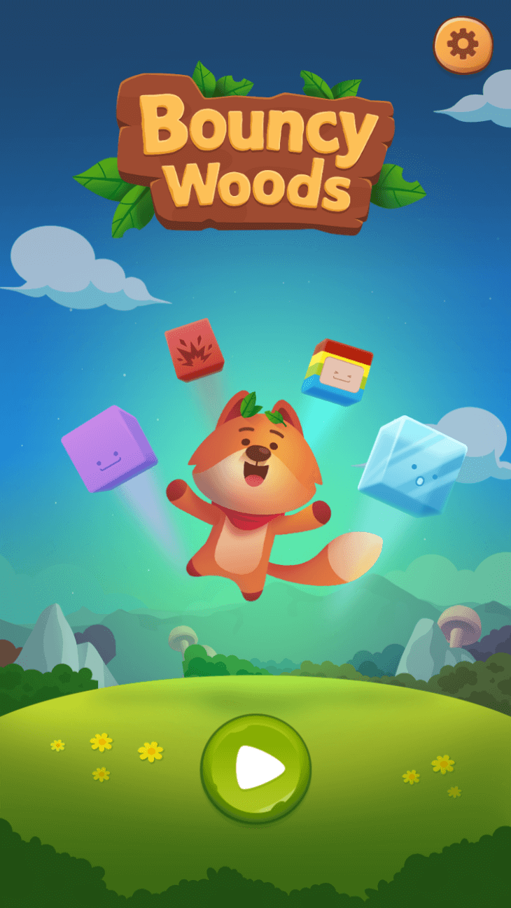 Bouncy Woods - html5 puzzle game by RoboWhale